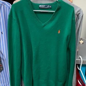 Vintage Ralph Lauren V-Neck Lambswool Fall Color!